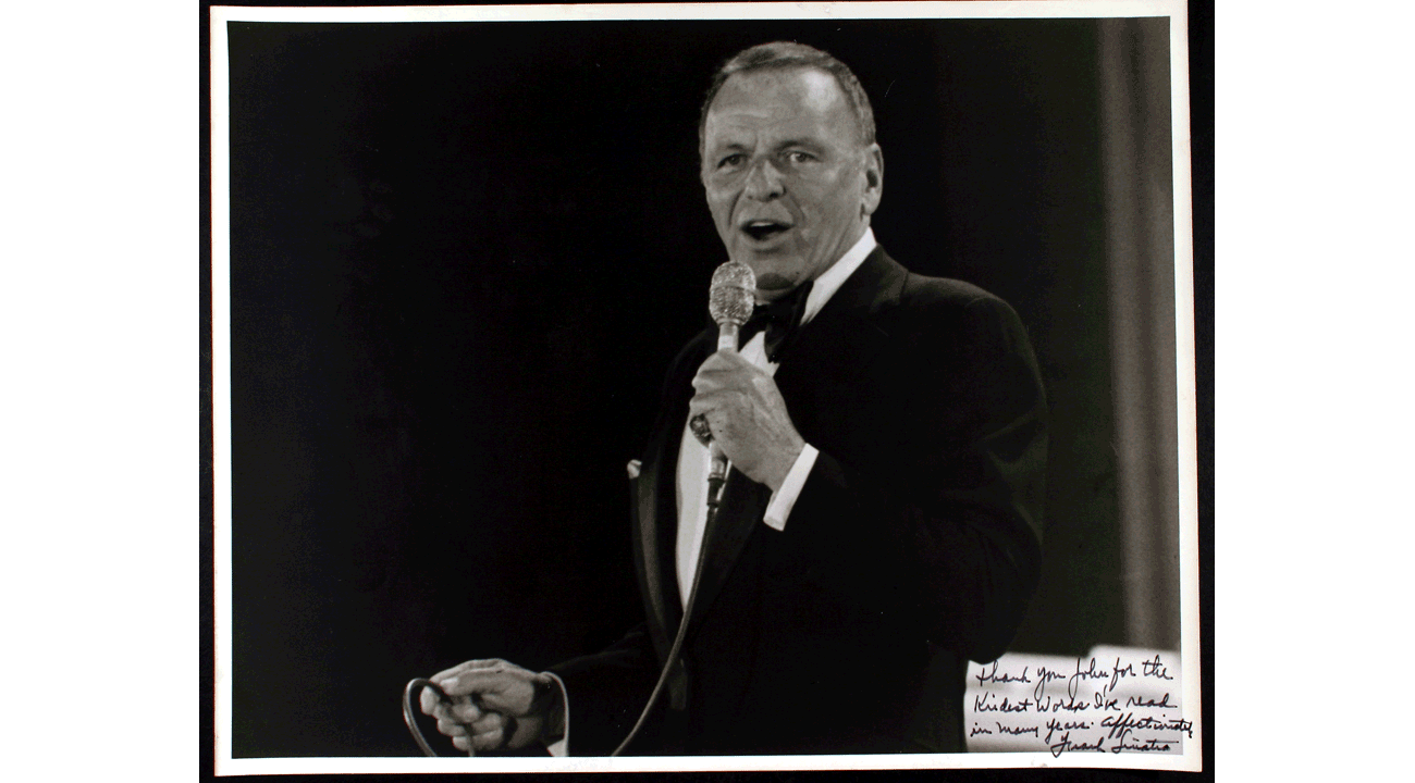 An unsolicited love note from Frank Sinatra after I wrote about him